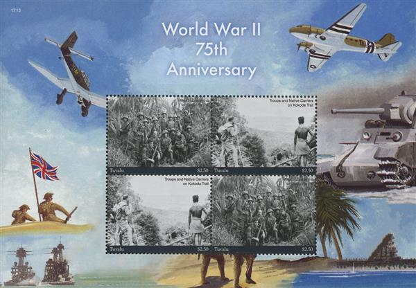 2017 $2.50 Taking a Photo in South Pacific, WWII 75th Anniversary sheet of 4