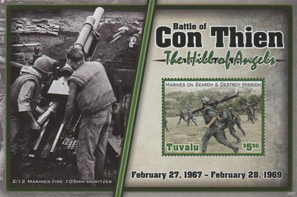 "2020 $5.50 Vietnam War - "" Battle of Con Thien- The Hill of Angels"", Mint Sheet, Tuvalu"
