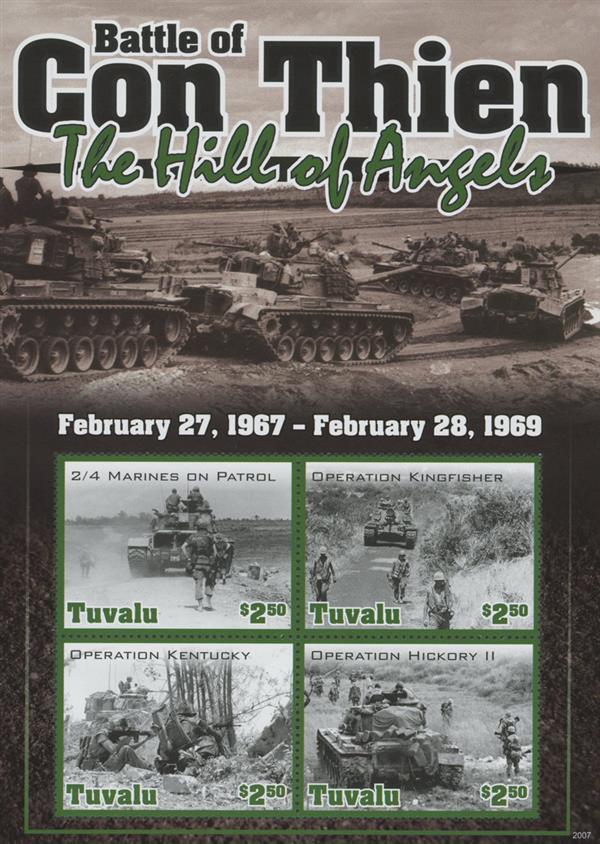 "2020 $2.50 Vietnam War - ""Battle of Con Thien - The Hill of Angels"", Mint Sheet, Tuvalu"