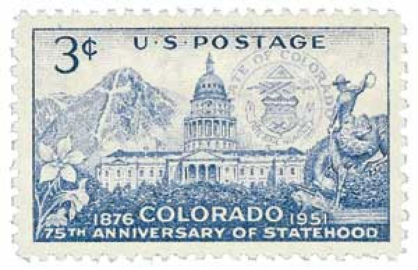 1951 3¢ Colorado Statehood