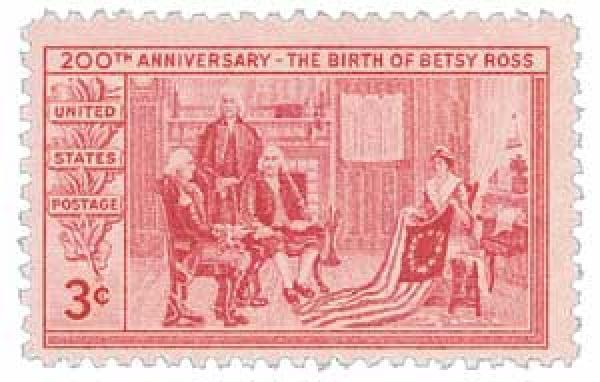 1952 3¢ Betsy Ross