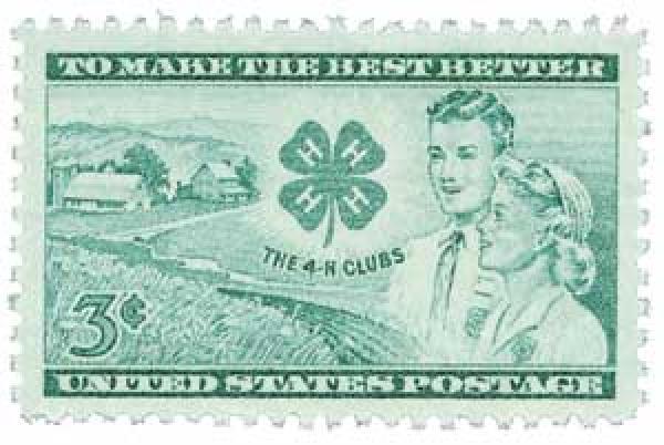 1952 3¢ 4-H Club