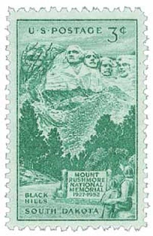 1952 3¢ Mt. Rushmore Memorial
