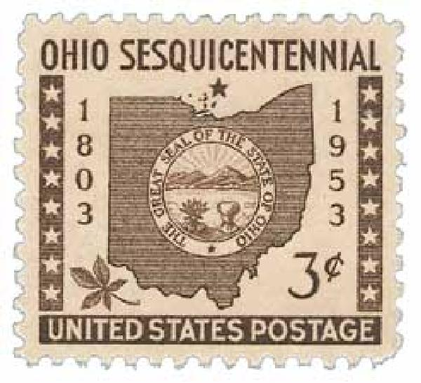 1953 3¢ Ohio Statehood
