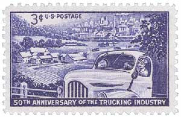 1953 3¢ Trucking Industry
