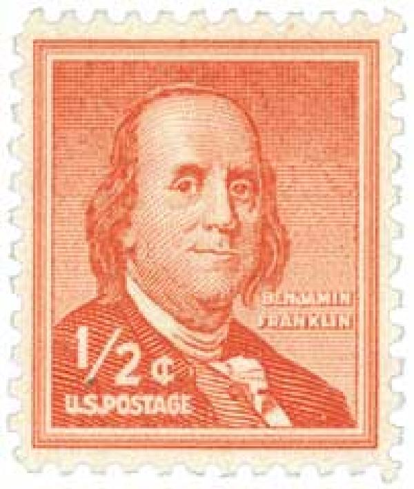 1955 Liberty Series - 1/2¢ Benjamin Franklin