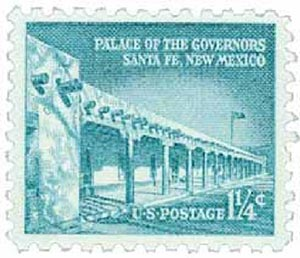 1960 Liberty Series - 1 1/4¢ Palace of the Governors