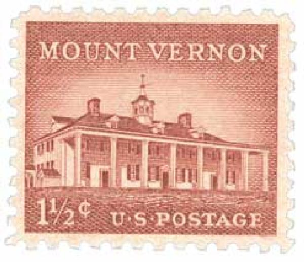 1956 Liberty Series - 1 1/2¢ Mount Vernon