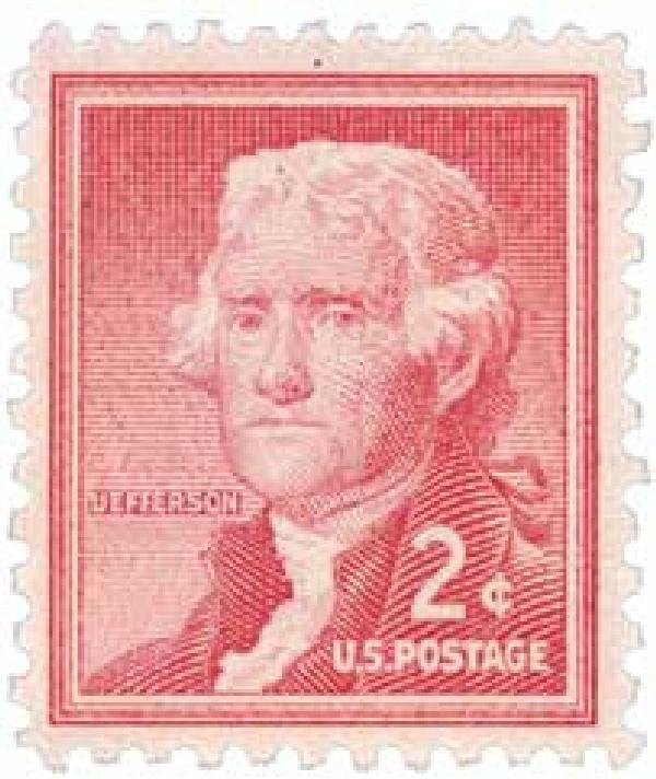 1954 Liberty Series - 2¢Thomas Jefferson