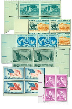 US Plate Block Collection,Mint, Set of 25