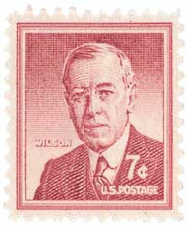 1956 Liberty Series - 7¢ Woodrow Wilson