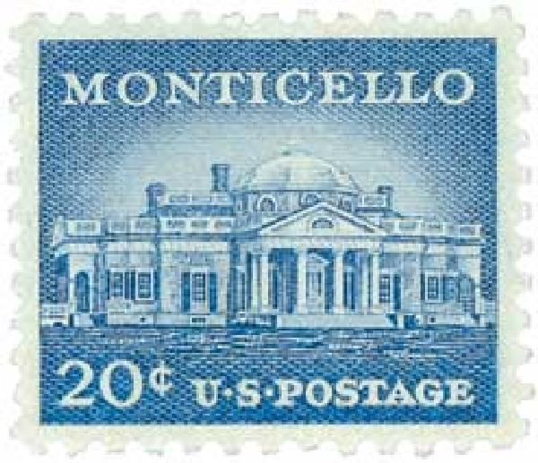 1956 Liberty Series - 20¢ Monticello