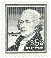 1956 Liberty Series - $5 Alexander Hamilton