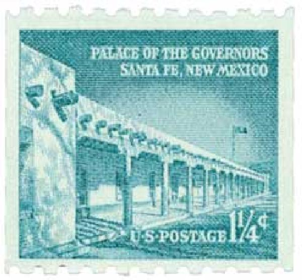 1960 1-1/4c Palace of Governors, coil