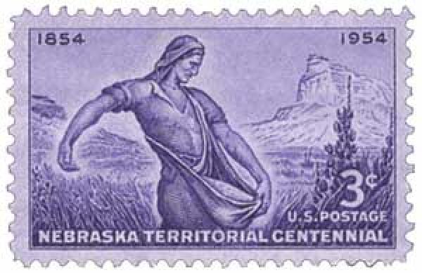 1954 3c Nebraska Territory