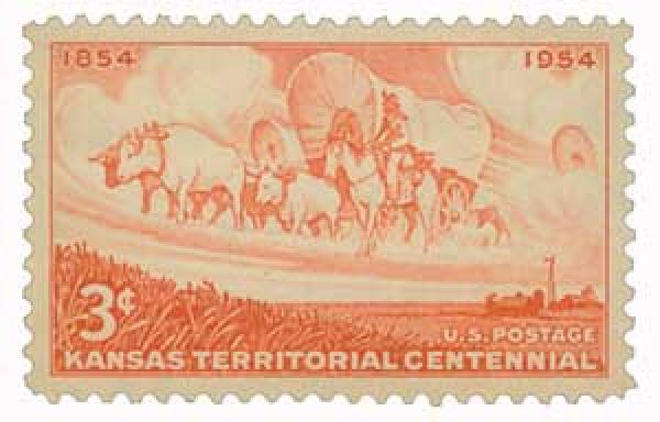 1954 3¢ Kansas Territory