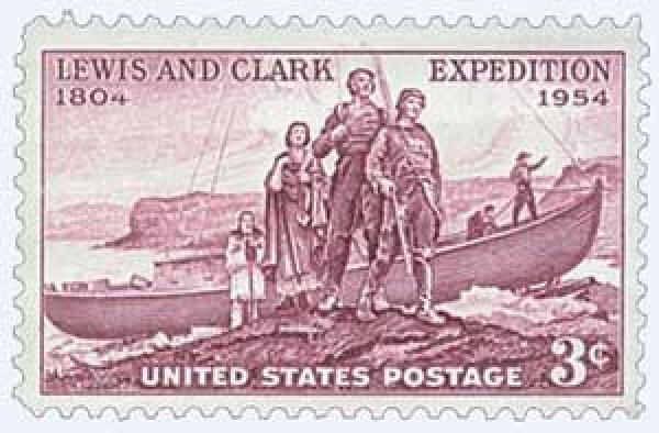 1954 3¢ Lewis and Clark Expedition