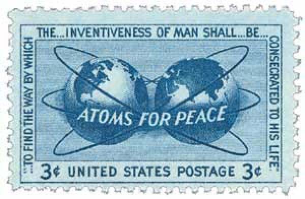 1955 3¢ Atoms for Peace