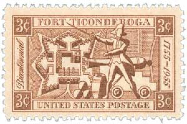 1955 3¢ Fort Ticonderoga