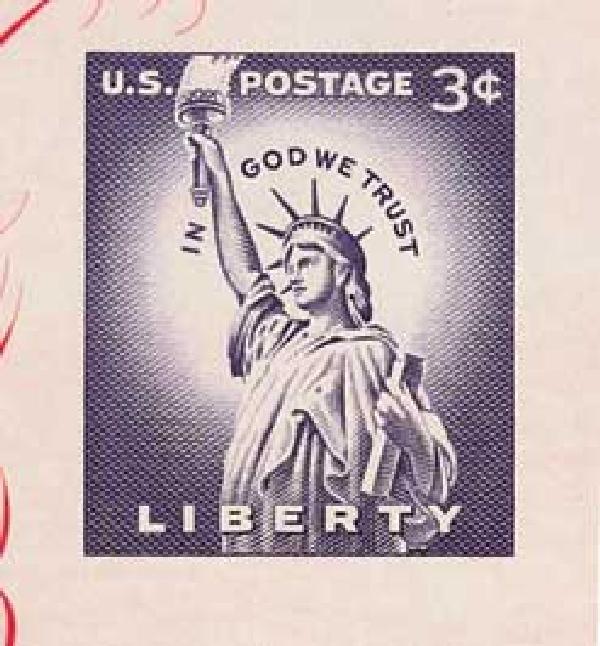 1956 3¢ Deep Violet, single