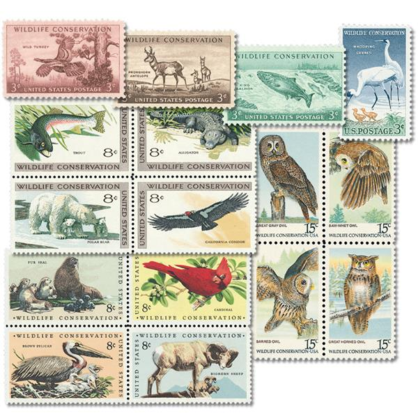 Complete Set of 15, 1956-78 Wildlife Conservation Series