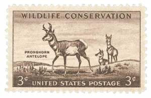 1956 3¢ Pronghorn Antelope