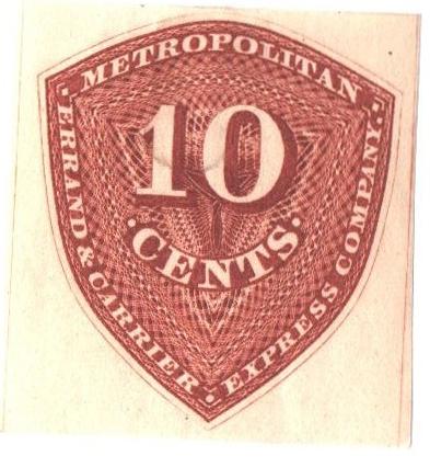 1855 10c red orange
