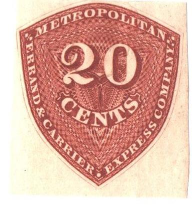 1855 20c red orange