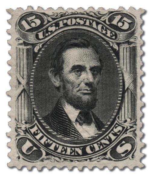 1875 15¢ Lincoln, black