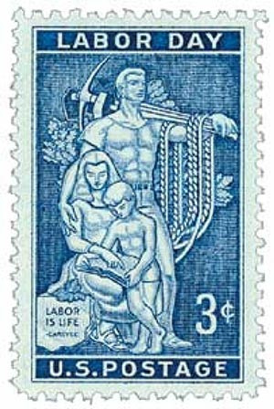 1956 3¢ Labor Day for sale at Mystic Stamp Company