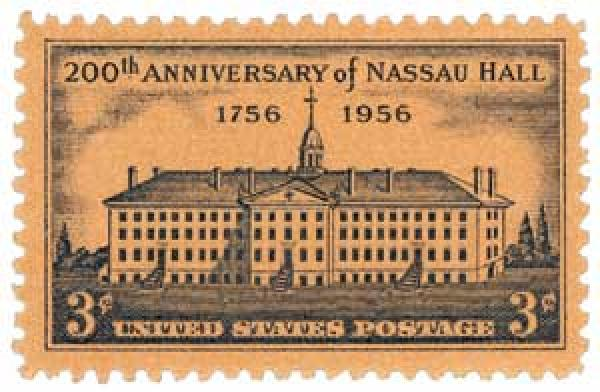 U.S. #1083 – At the time it was built in 1756, Nassau Hall was the largest building in New Jersey.