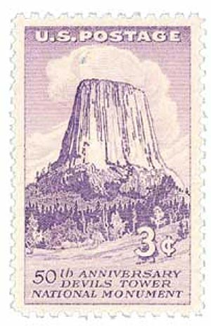 1956 3¢ Devils Tower