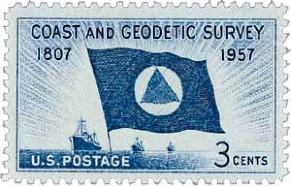 1957 3¢ Coast and Geodetic Survey