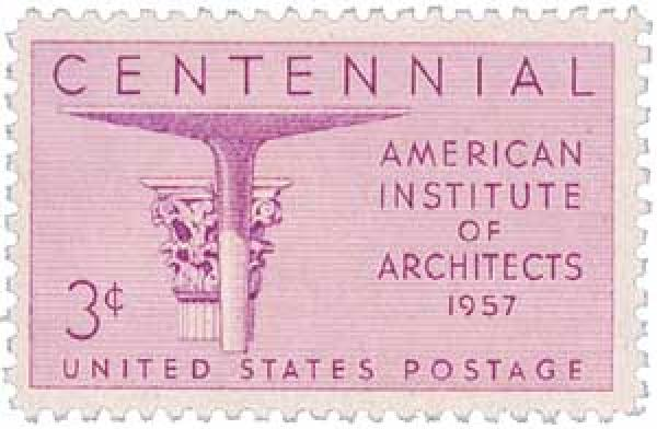 1957 3¢ Architects Institute