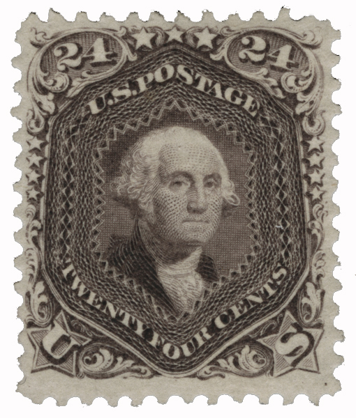 1875 24c Washington, deep violet