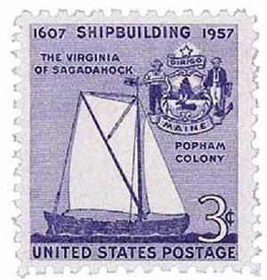 1957 3¢ Shipbuilding Anniversary