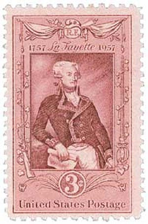 1957 3¢ Lafayette Bicentenary