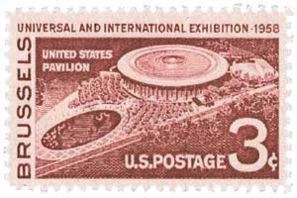 1958 3¢ Brussels Exhibition