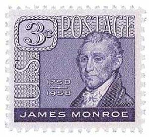 1958 3¢ James Monroe