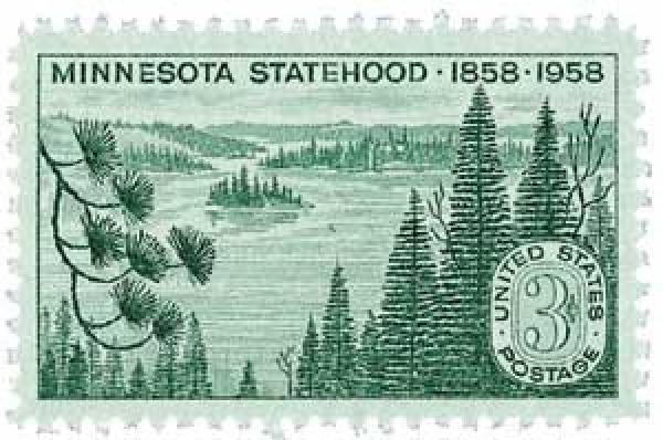 1958 3¢ Minnesota Statehood