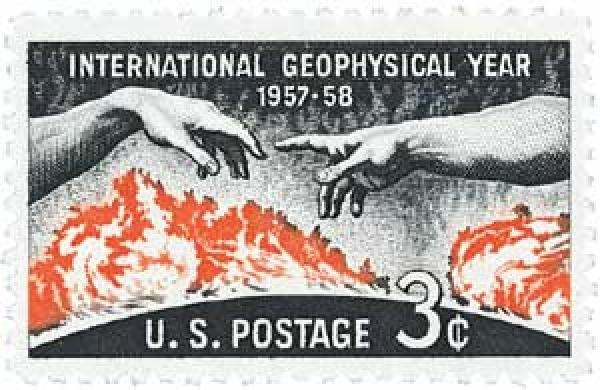 1958 3¢ International Geophysical Year
