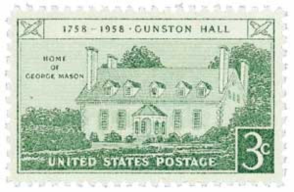 1958 3¢ Gunston Hall