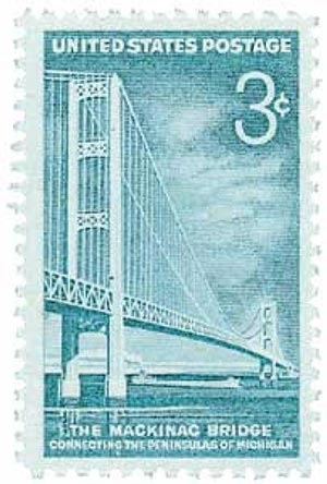 U.S. #1109 was issued on the day of the bridge's dedication ceremony.