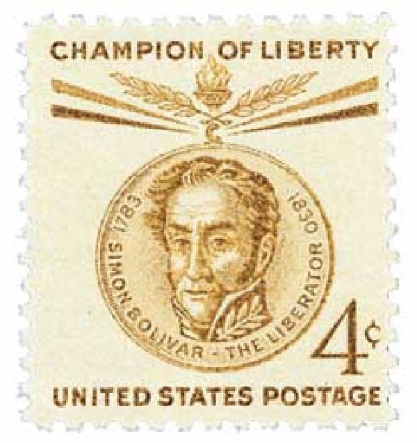 1958 4¢ Simon Bolivar
