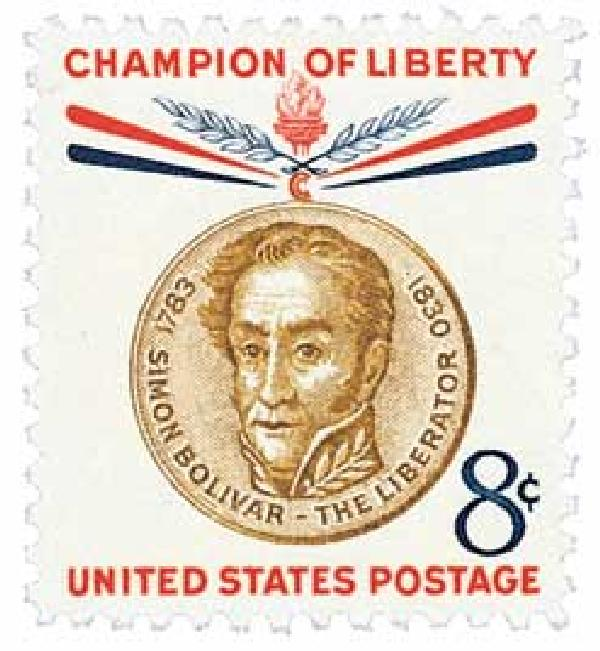 1958 8¢ Simon Bolivar