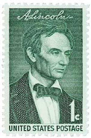U.S. #1113 – Lincoln received Grace's letter while sitting for this portrait.