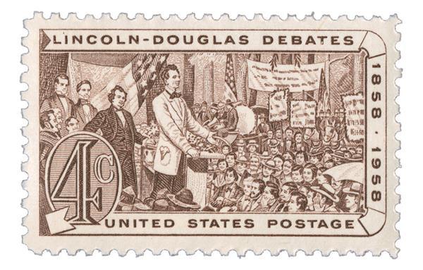 1958 4¢ Lincoln-Douglas Debates