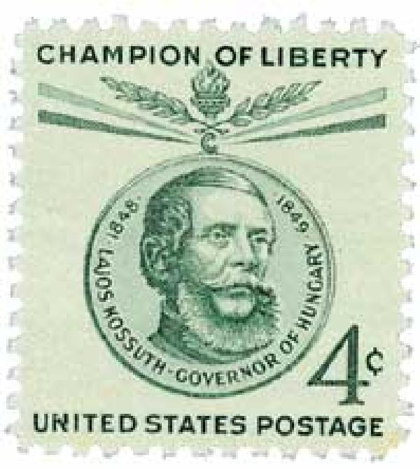 1958 4¢ Lajos Kossuth