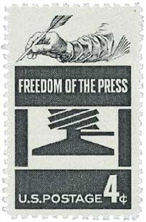 1958 4¢ Freedom of Press