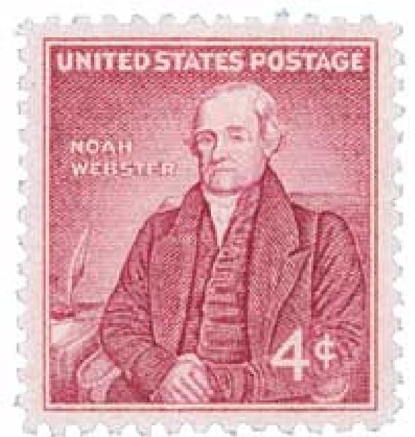 1958 4¢ Noah Webster